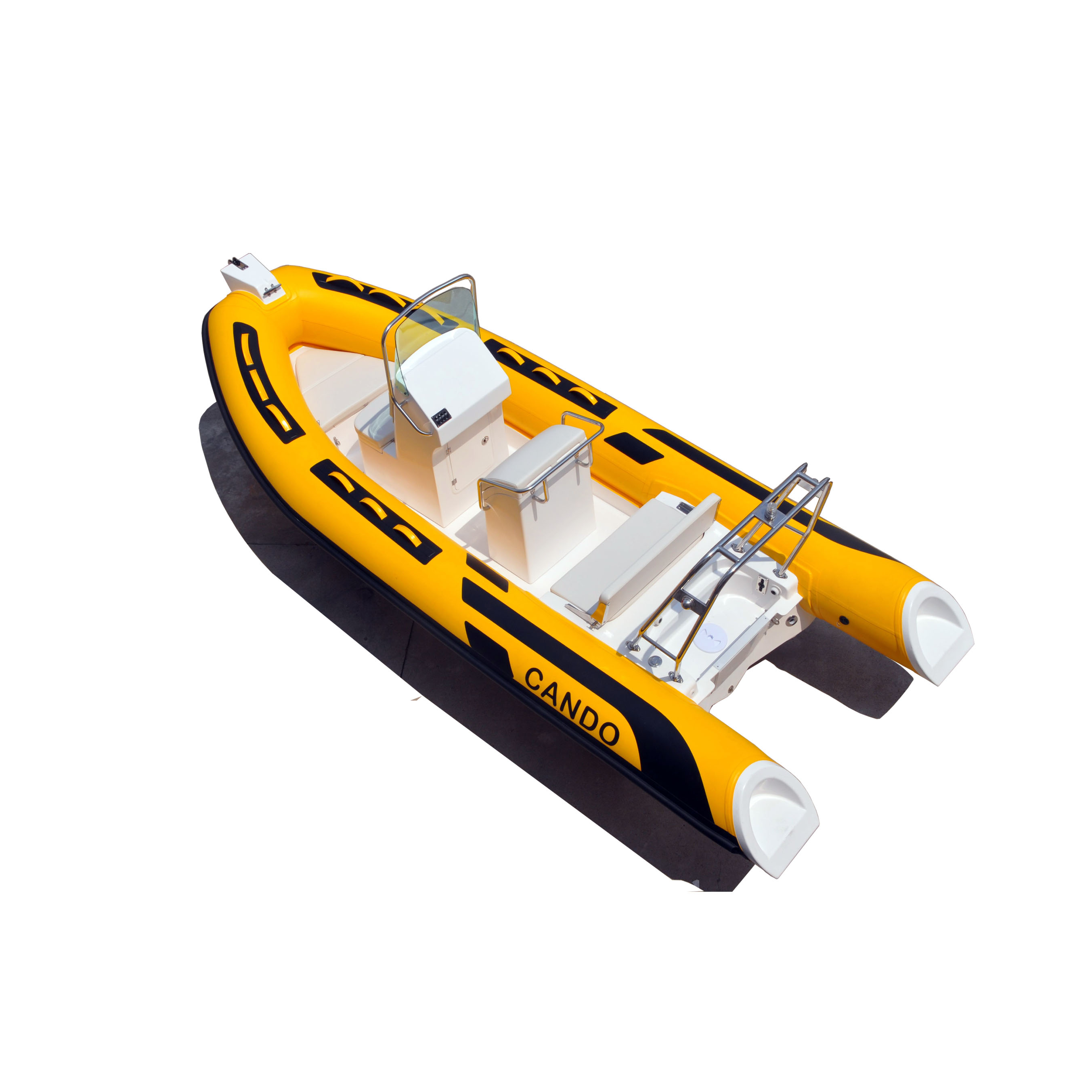 CANDO CE certificate RIB 520B the fiberglass hull inflatable <strong>boat</strong> with cheap price