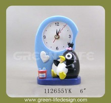 Polyresin clock desk decorative alarm clock