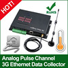 Analog Pulse Channel 3G Ethernet digital logger with solar panel gprs data logger