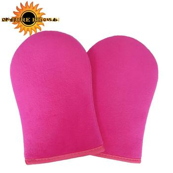 Pink Color Double Sided Self Tan Tanning Mitt For Self Tanner