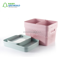 High-Quality rectangle pp plastic storage box basket