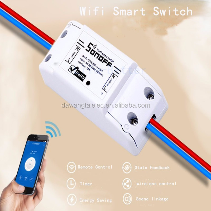 Smart Basic 90-250V Sonoff Wireless WiFi Smart Switch