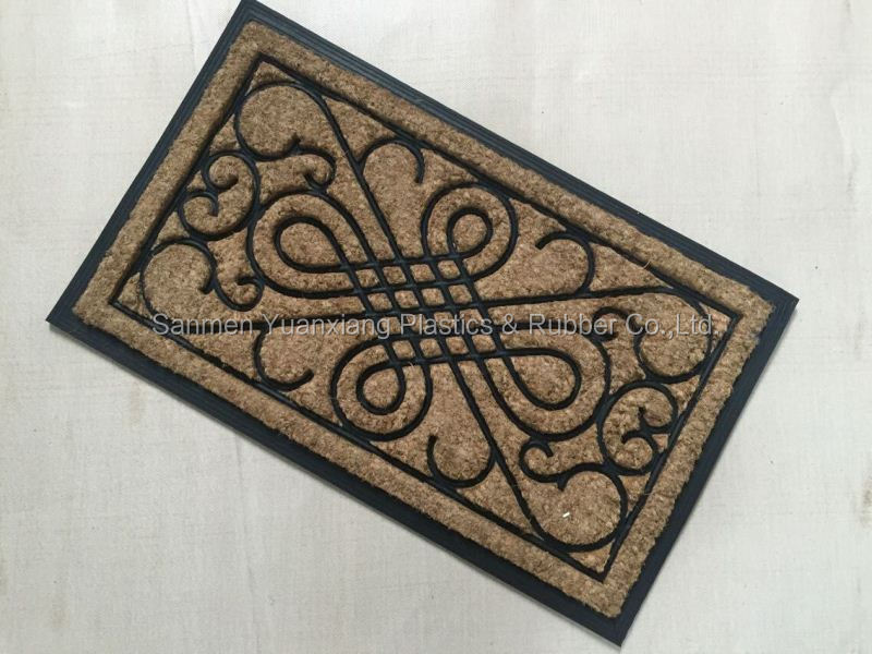 rubber coir door mat