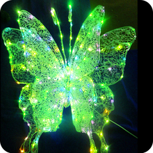 Lighted plastic butterfly birthday party decorations LED Butterfly Light