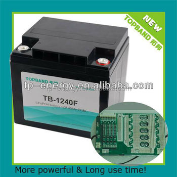 Nano lithium iron phosphate battery 12V40Ah back up power