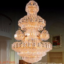 2017 Luxury hotel extra large crystal chandelier for entrance lighting 62061