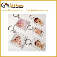 Customized Acrylic Photo Frame Keychain, Advertising Photo Frame Keychain