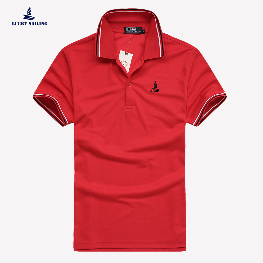 LUCKY SAILING 2015 summer style men clothing polo shirt camisa polo masculina solid polo shirts casual poloshirt cotton  M-XXL