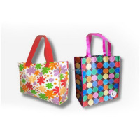 color printing metallic promotional bag, metallic non woven shop bag