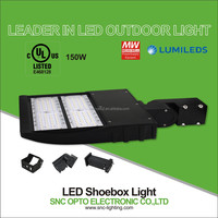 UL listed 150W led parking lot lighting led shoe box light with 5 years warranty