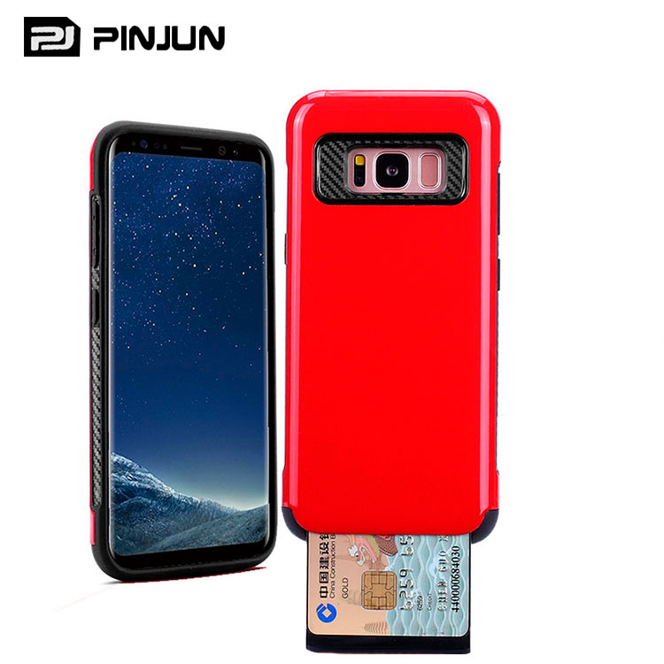 2 in 1 dual layer mobile card holder cell phone accessory for samsung galaxy s8 accessories