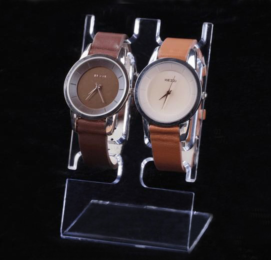 L shape Acrylic Double Wrist Watch Display Holder