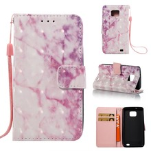3D marble PU Leather Flip kickstand wallet cell phone case with Card for samsung S2 S3 S4 S5 S6 S6EDGE S7 S7EDGE S8 S8PLUS