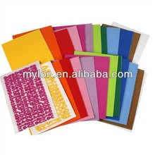 Assorted brighted colored craft foam