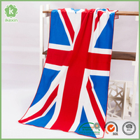 Sublimation Printed Microfiber Sport Flag Beach Towel