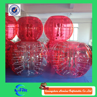Dia 1.2m-1.5m small pvc inflatable ball, body inflation ball suit for sale