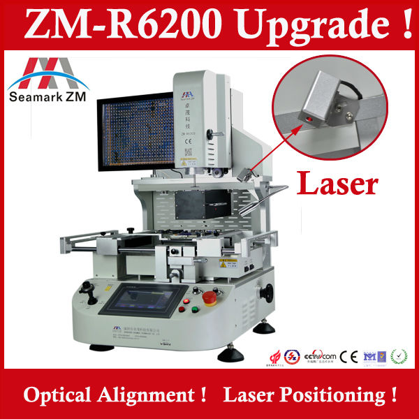automatic infrared bga rework station ZM-R6200 with optical alignment system for laptop motherboard ps3 gpu repair