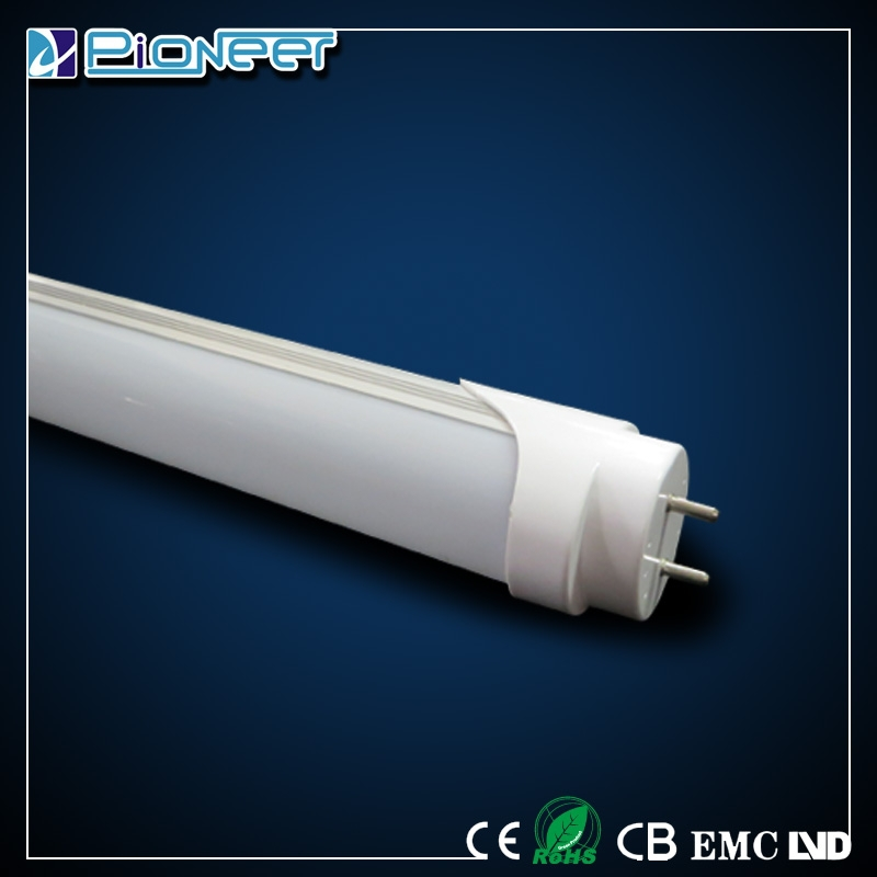 indoor 18w led tube light aluminium housing PC cover t8 tube with 2years warranty zhong shan