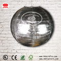 Handmade hanging round shiny silver fabric lantern pendant lamp for wedding decoration