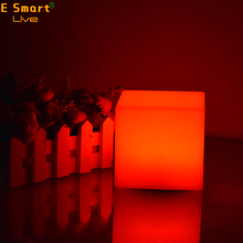 indoor night cube &star cordless plastic led light up table lamp