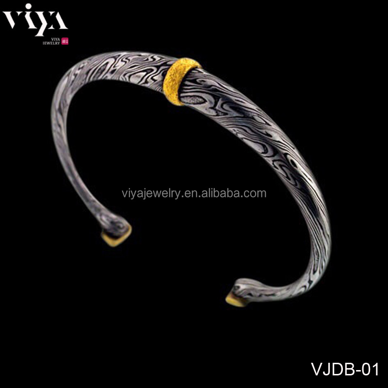 2016 New Arrival Jewelry Material For big brands High Class Custom Damascus steel Bracelet Jewelry