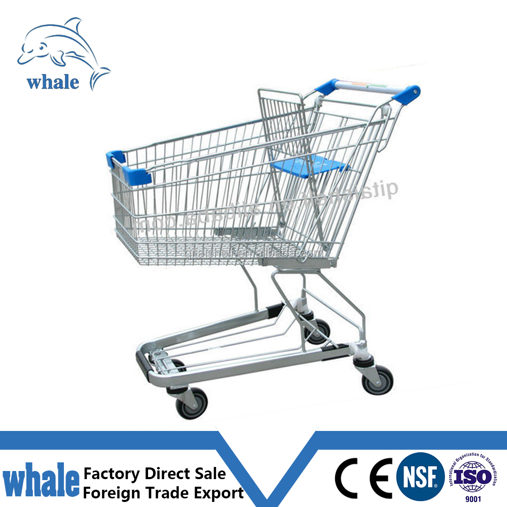 Changsu latest hot metal supermarket shopping trolley with seat
