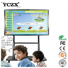 YCZX 55 inch lcd touch screen monitor 10 user all-in one PC&Whiteboard for education with factory price