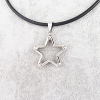 new arrival fashion stainless steel hollow pentagram pendant jewelry