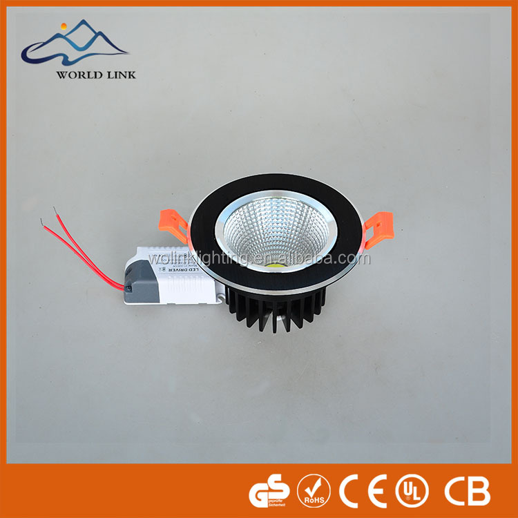 High ceiling mount True color high CRI 3.5 inch cut out90 smd5630 white housing led downlight