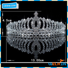 European Popular Bridal Tiara Wedding Hair Crown Cheap Chinese Factory Price