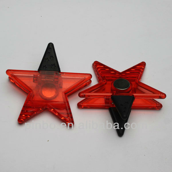 star shaped memo clip with magnet