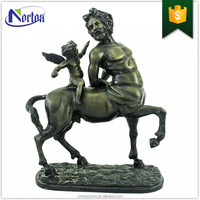Pegasus angel outdoor decoration antique bronze horse sculpture NTBA-171Y