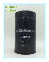 Genuine oil filter for H.ino OE NO: 15607-1731 15607-1733 15607-1600
