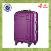 Purple Shining Color Rubbery Handle Built In Spinner Wheels Waterproof ABS+PC Trolley Luggage Bag
