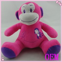 Custom stuffed plush monkey baby toy factory in dongguan