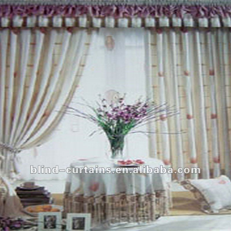 Jacquard curtain with valance