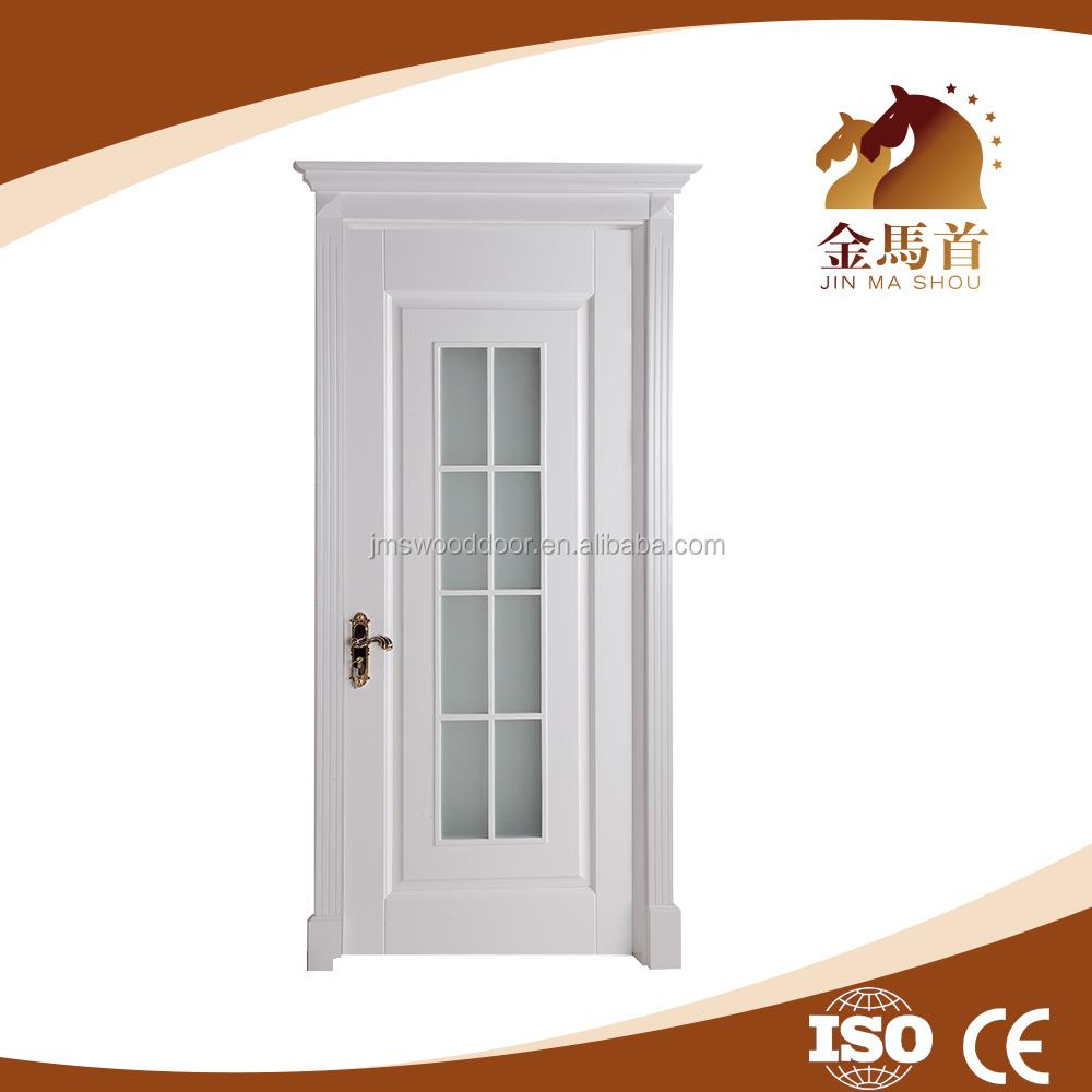 Luxury interior solid wood door office door with glass for Office doors with windows