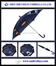 All good safety open children color changeable umbrella with animals