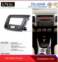 Radio Fascia Panel for Citroen C-Crosser Mitsubishi Outlander Peugeot 4007 Stereo Dash CD FaciaTriM Installation Kit