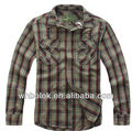 Custom made Men's long sleeve fashion shirt flannel cotton shirts