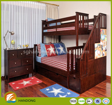 pine wooden adult wood bunk bed combined bunk bed with drawer cabinet