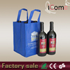 Hot selling_Non woven 4 bottle wine tote bag (ITEM NO:W150436)