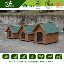 Large Size Fir Wood Dog Kennels Cages With Curtain