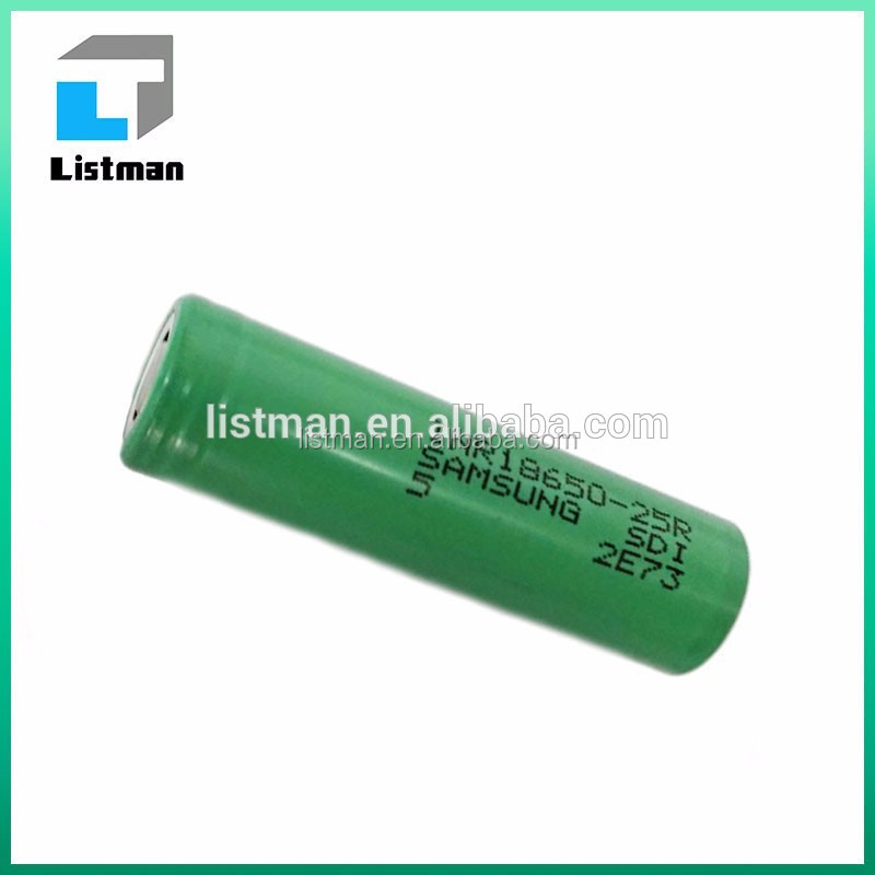 2016 Hotest!! New products samsung li ion battery 18650, samsung 20 A INR18650 battery 25R 3000mah