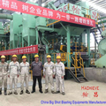Shot blasting machine for steel coil cleaning