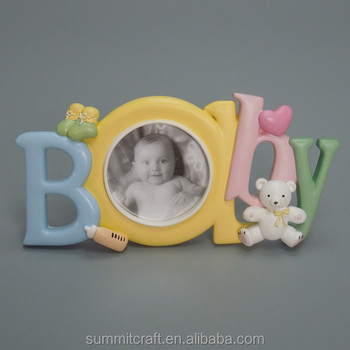 Custom baby 12 month resin baby photo frame