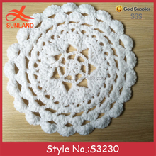 S3230 new design custom crochet knitted saucer placemats coasters pot coffee cup mats
