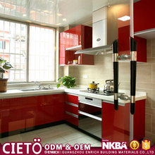 Hot sales Affordable Price Modular high gloss finish kitchen cabinet in kerala with island