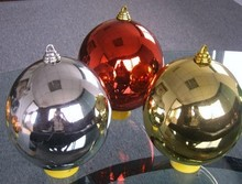 High quality light electroplating ball Christmas ornaments outdoor christmas lighted balls