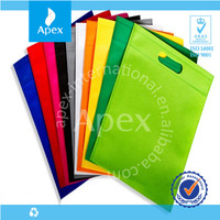 cheap plain tote non-woven clothing bags